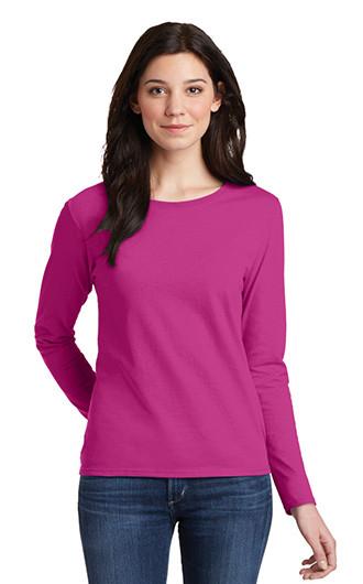 Gildan?Ladies Heavy Cotton?100% Cotton LS T-shirts