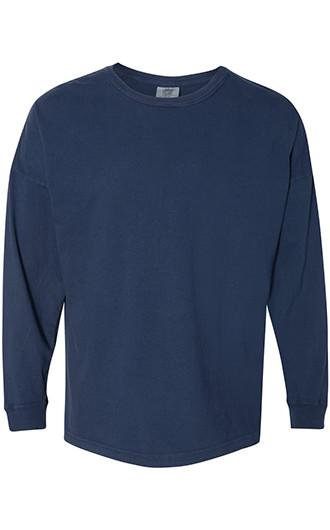 Comfort Colors - Garment-Dyed Drop-Shoulder Long Sleeve T-shirts