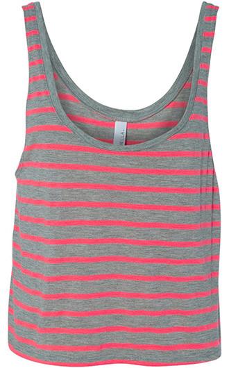 BELLA  CANVAS - Women's Flowy Boxy Tank Tops (Striped)