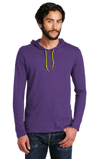 Anvil?100% Combed Ring Spun Cotton LS Hooded T-shirts