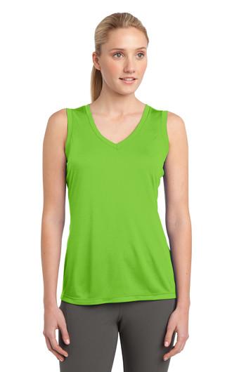 Sport-Tek Ladies Sleeveless PosiCharge V-Neck T-shirts