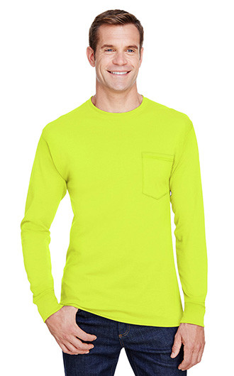 Hanes Adult Workwear Long-Sleeve Pocket T-shirts