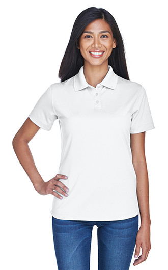 UltraClub Women's Cool & Dry Stain-Release Performance Polo