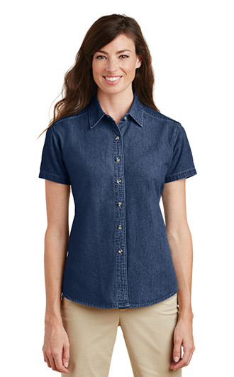 Port & Company Ladies Short Sleeve Value Denim Shirts