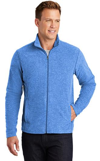 Port Authority Heather Microfleece Full Zip Jackets