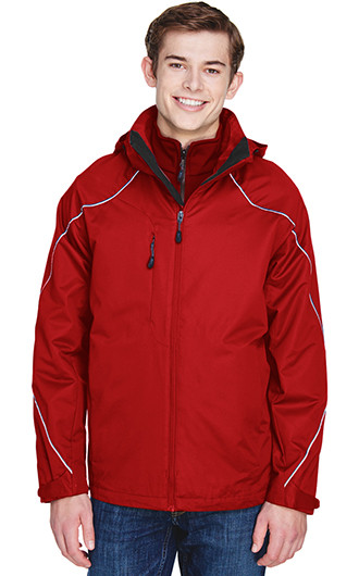 North End Men's Angle 3-In-1 Jackets with Bonded Fleece Liner