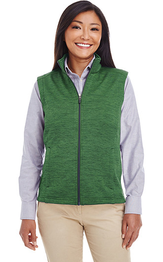 Devon & Jones Ladies'  Newbury Melange Fleece Vests