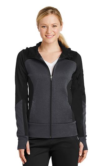 Sport-Tek Ladies Tech Fleece Colorblock Full Zip Hooded Jacket