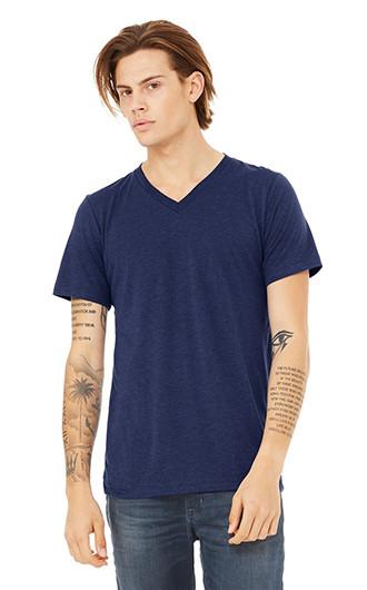 Bella  Canvas Unisex Triblend Short-Sleeve Deep V-Neck T-shirts