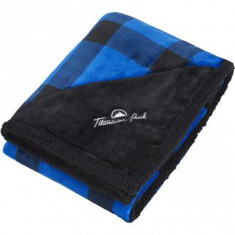 Field & Co. Buffalo Plaid Sherpa Blankets