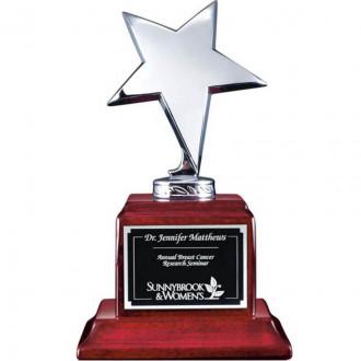 Densley Awards Chrome On Rosewood Base