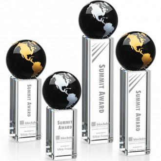 Luz Globe Award Black with Silver