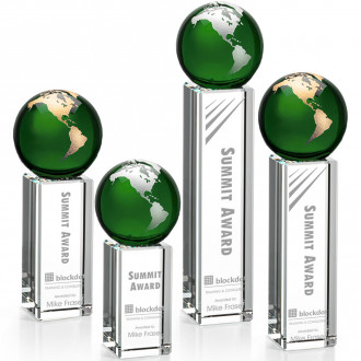 Luz Globe Award Green with Silver