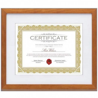 Aberdeen Certificate Frame - Walnut