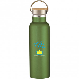 Tipton Stainless Steel Bottles With Bamboo Lid 21 oz. Full Color