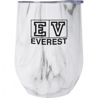 12 Oz. Marble Stemless Wine Cups Full Color