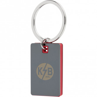Color Block Mirrored Key Tags