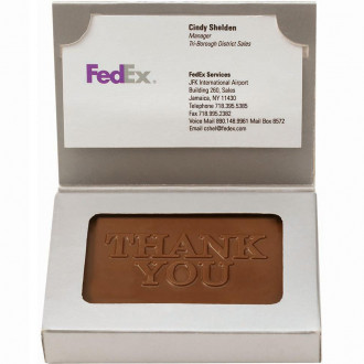 Wrapped Chocolate Business Card 1 oz.