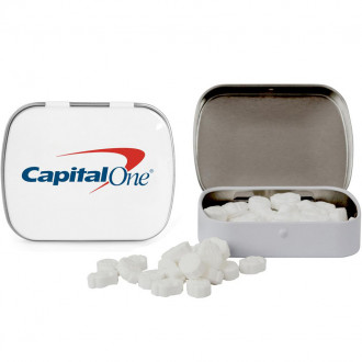 Domed Tins with Dollar Sign Shaped Mints