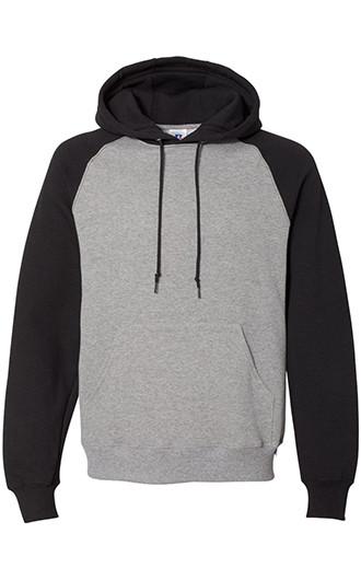 Russell Athletic - Dri Power Colorblock Raglan Hooded Sweatshirt