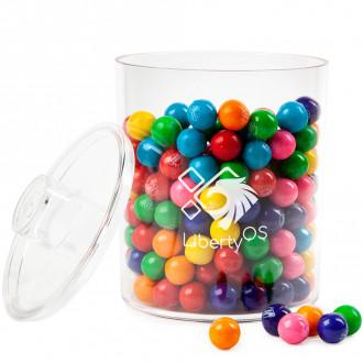 Cylinder Acrylic Gift Jars - Gumballs