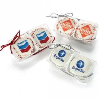 Clear Acetate Box of 2 Logo Oreos