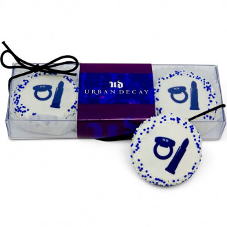 Clear Acetate Gift Boxes of 3 Logo Oreos with Branded Custom Sle