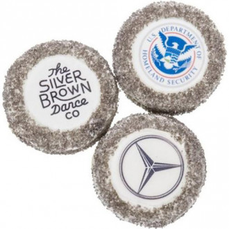 Round Silver Sugar Picture Cookies