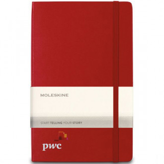 Moleskine Hard Cover Ruled Large Expanded Notebook - Screen Prin