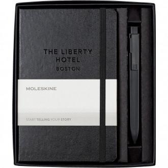 Moleskine Medium Notebook and GO Pen Gift Set - Deboss