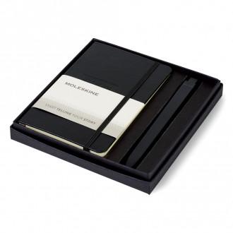 Moleskine Pocket Notebook and GO Pen Gift Set - Deboss