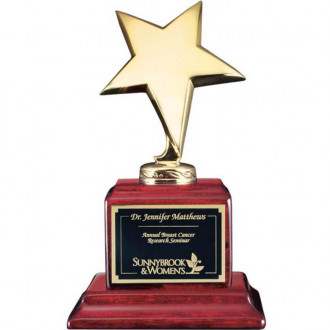 Densley Awards Gold On Rosewood Base