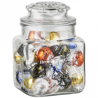 36 oz Glass Apothecary Jar (Lindt Truffles)