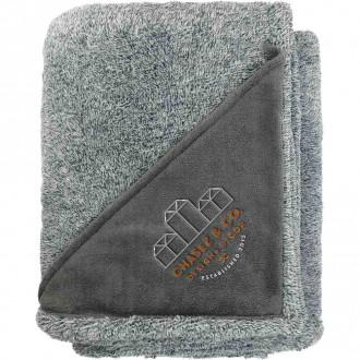 Heathered Fuzzy Fleece Blankets
