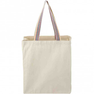 Rainbow Recycled 8oz Cotton Grocery Totes