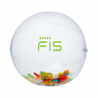 Multi Color Confetti Filled Round Clear Beach Balls
