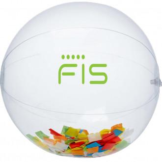 Multi Color Confetti Filled Round Clear Beach Balls