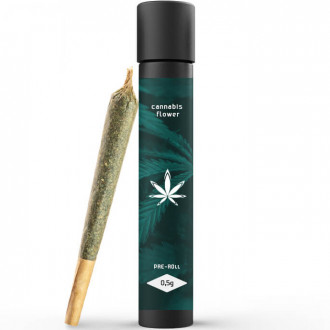 Glass Pre Roll Joint Tube with Custom Sticker / Label