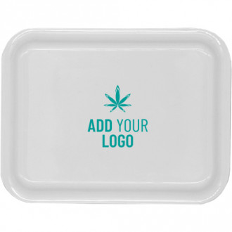 Custom Small White Rolling Tray