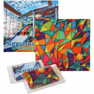 Sublimated Microfiber Cloth W/Case