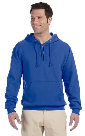 Jerzees Adult NuBlend Fleece Quarter-Zip Pullover Hooded Sweatsh