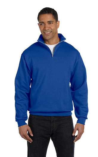 Jerzees Adult NuBlend Quarter-Zip Cadet Collar Sweatshirt