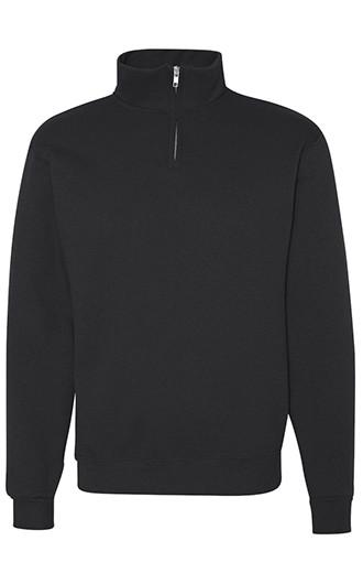 Nublend Cadet Collar Quarter-Zip Sweatshirt