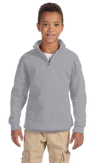 Jerzees Youth NuBlend Quarter-Zip Cadet Collar Sweatshirt