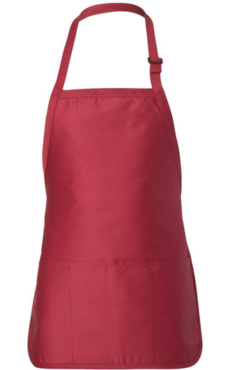 Q-Tees - Full-Length Apron with Pouch Pocket