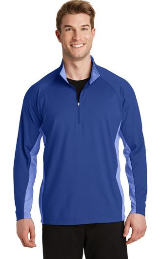 Sport-Tek Sport-Wick Stretch Contrast 1/2-Zip Pullover