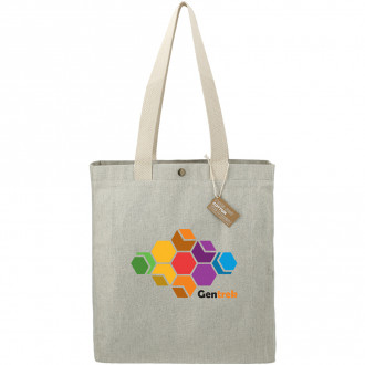 Repose 10oz Recycled Cotton Box Tote w/Snap