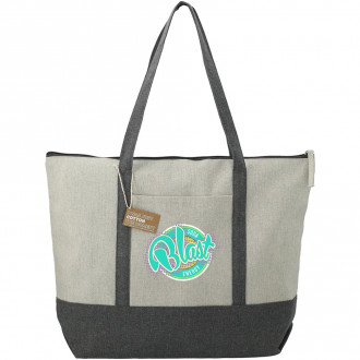 Repose 10oz Recycled Cotton Zippered Tote