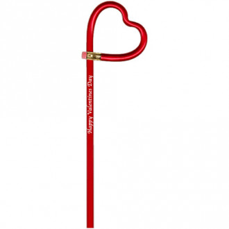 Heart Shaped Bentcil  Pencils